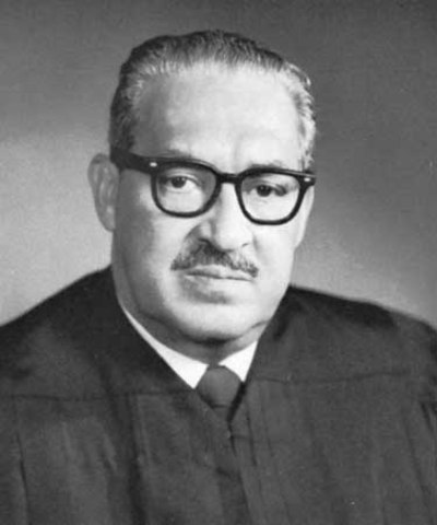 President Johnson appoints Thurgood Marshall to the Supreme Court. He becomes the first black Supreme Court Justice.