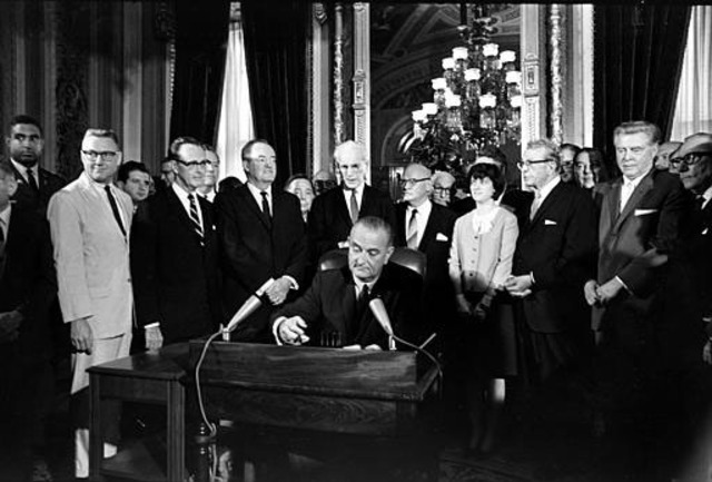 Congress passes Civil Rights Act.