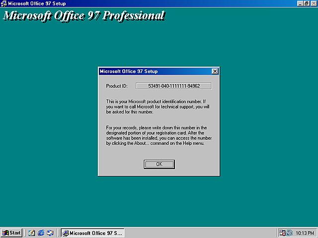Office 97 desarrollado por Word 98 (8.5)