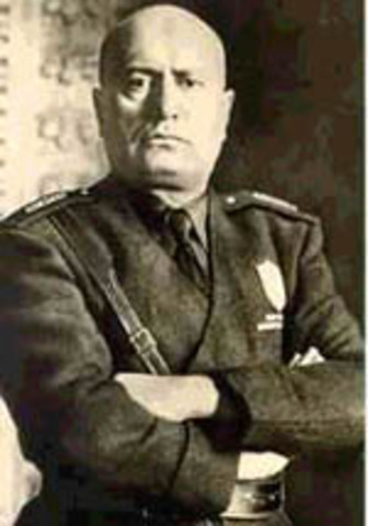M ussolini takes over in Italy