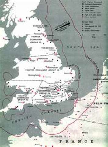 Plans for the invasion of Great Britian; begins the Battle of Britian