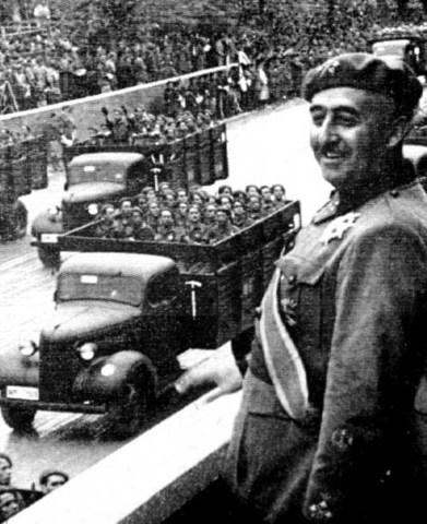 Civial wWar begins in Spain under Francisco Franco