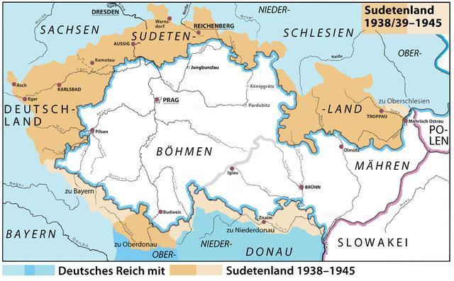 Munich agreement; Sudentenland to Germany