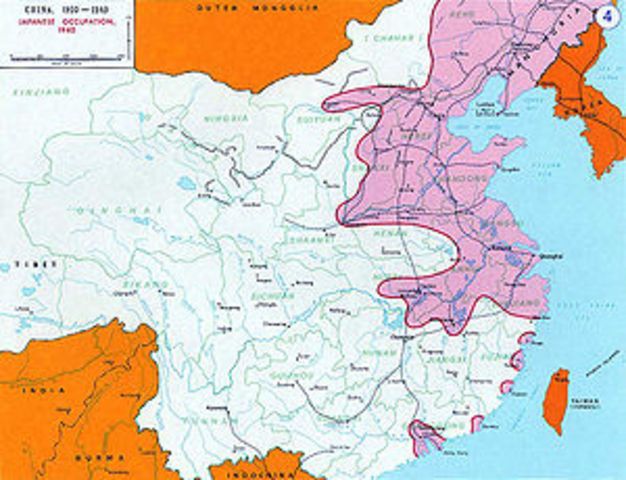 Japan invadesd China