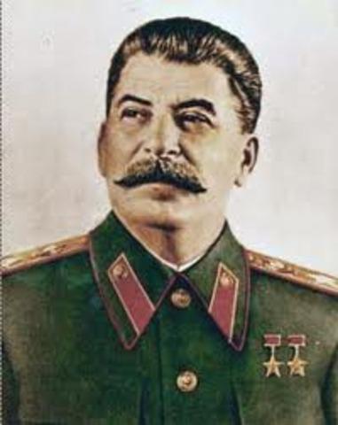 Death of Vladimir Lenin; control of USSR to Joseph Stalin; death of 8-13 million Russians