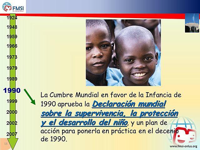 1990: CUMBRE MUNDIAL A FAVOR DE LA INFANCIA