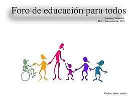 Año 2000: FORO MUNDIAL SOBRE LA EDUCACIÓN