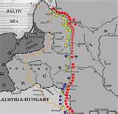 Germany and Russia; divide Poland