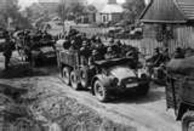 German invasion of Poland ; blitzrieg