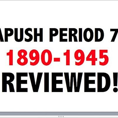 APUSH Period 7 Part 2 timeline