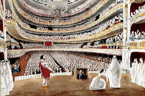 Inauguració Liceu Filharmònico-Dramàtic Barcelonès de Doña Isabel ll