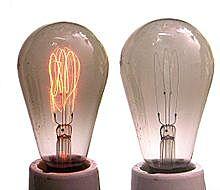 Invensión de la primera lámpara incandesente