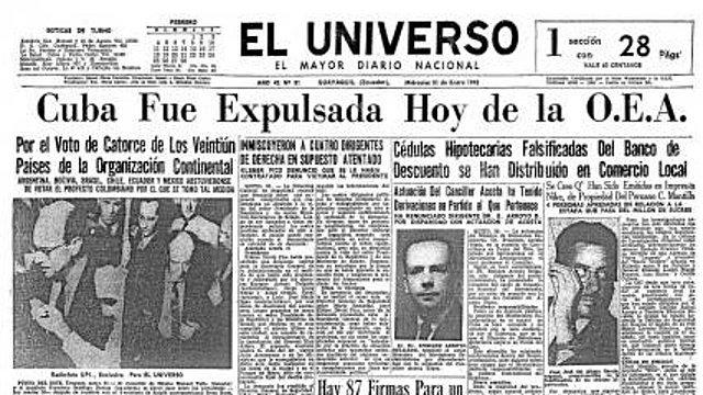 Deciden Expulsar a Cuba de la Organización