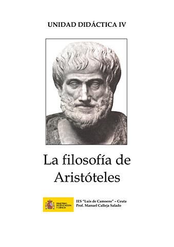 ARISTOTELES PRINCIPIO DE LA DIDÁCTICA