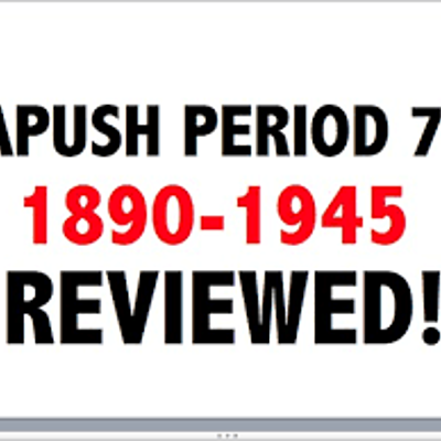 APUSH - Period 7 Part 1 timeline