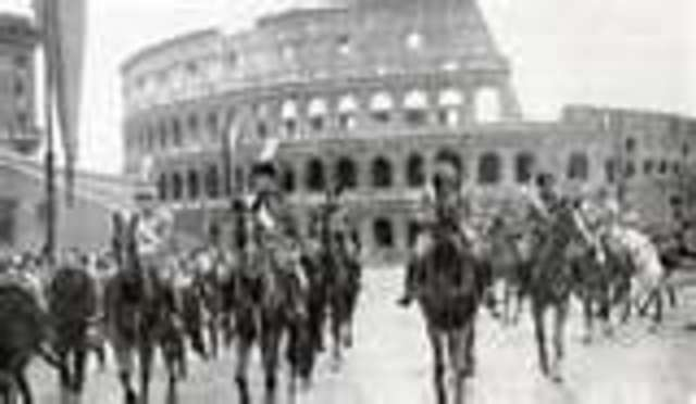 Fascist Party establlished under Mussolini in Italy