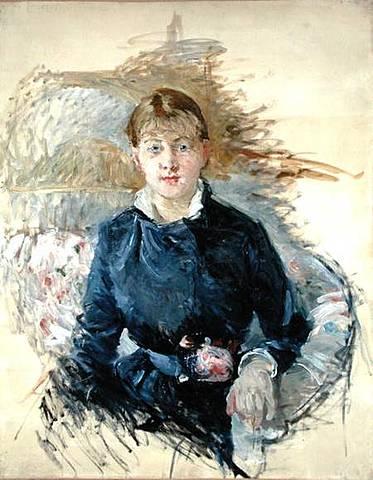 Portrait de Louise Riesener de Berthe Morisot