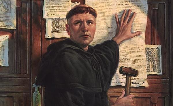 Affissione delle 95 tesi di Lutero