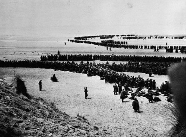 British and French defeat at Dunkirk