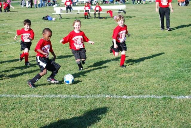 My first soccer game!