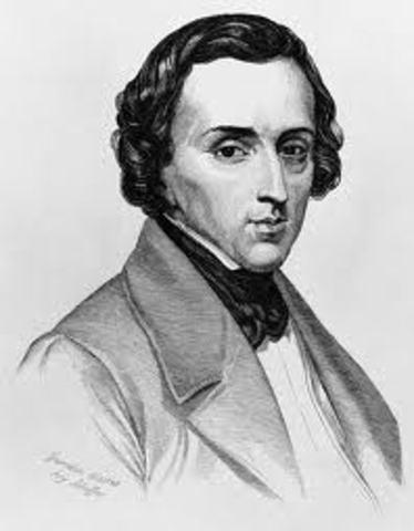 Frédéric Chopin was born