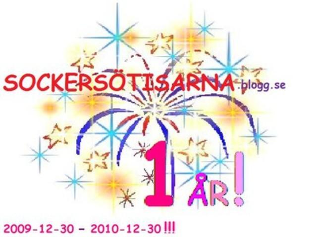 Min blogg fyller 1 år!
