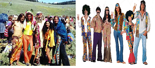hippies (1960 and 1970)