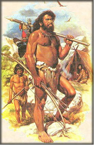 Paleolithic period (100.000 a 10.000 A.C.) year 200