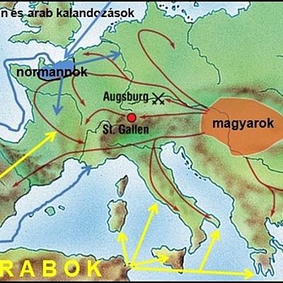 Magyar történelem a kezdetektől IV. Béláig timeline