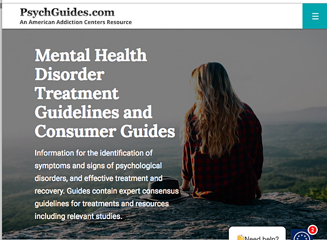 Mental Health disorders, treatments and guidelines