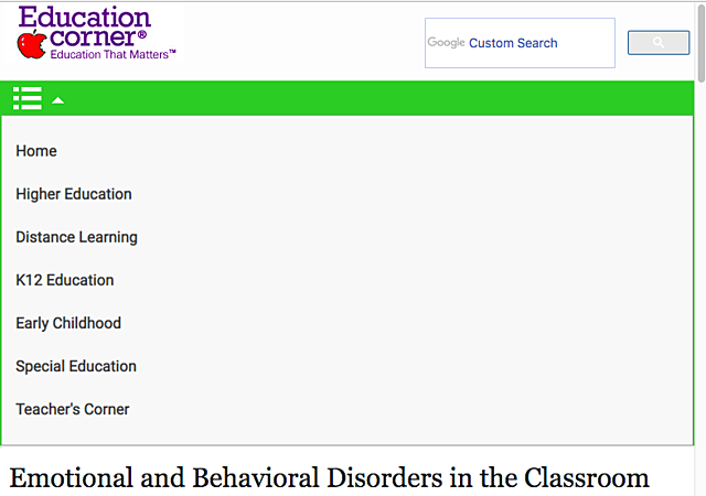 The Emotions and Behaviors in the Classroom