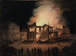 L'incendie du parlement