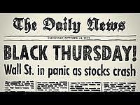 Stock Market Crash: Black Thursday and Black Tuesday