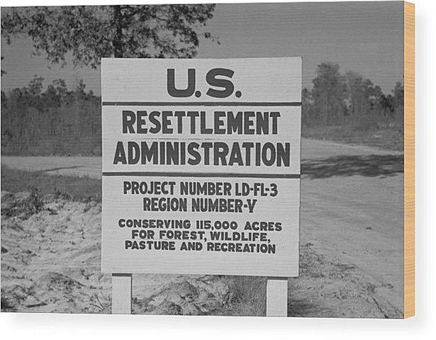 New Deal Programs: Resettlement Administration