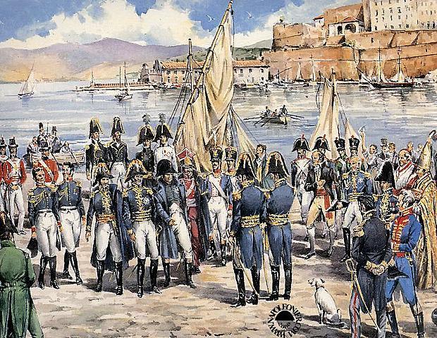 Abdicazione ed esilio all'Isola dell'Elba
