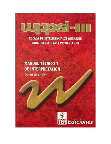 WIPPSI-lll de Wechsler       2011