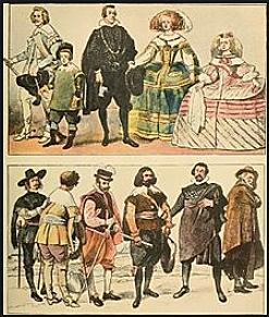 SUIT TO SPANISH 1600-1700s