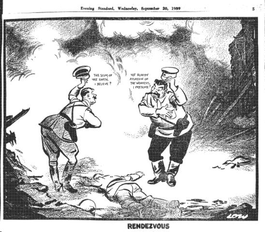 The Nazi-Soviet Non-Aggression Pact; divide Poland