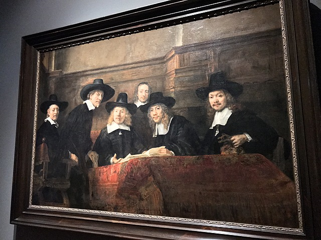 De waardijns van het Amsterdamse lakenbereiders, bekend als 'De Staalmeesters'