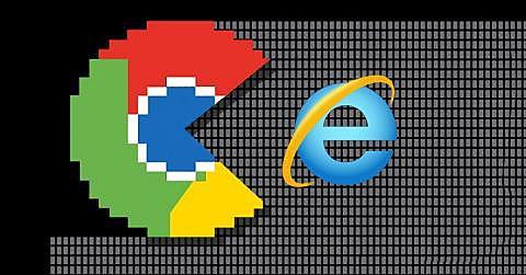 Google Chrome derrota a Internet Explorer