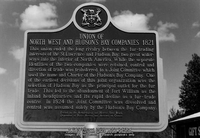 Hudson Bay Company and North West Company merge