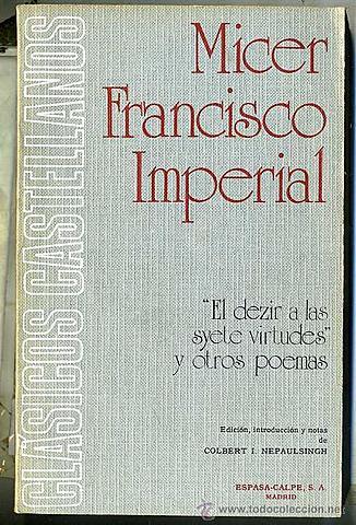 Micer Francisco Imperial introduce la escuela alegórico-dantesca