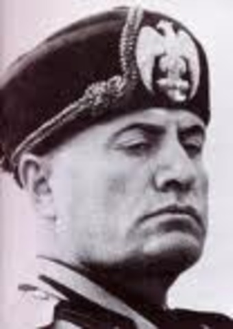 Mussolini takes over Italy
