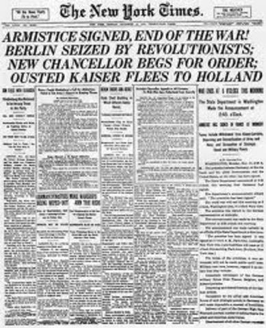 End of WW I