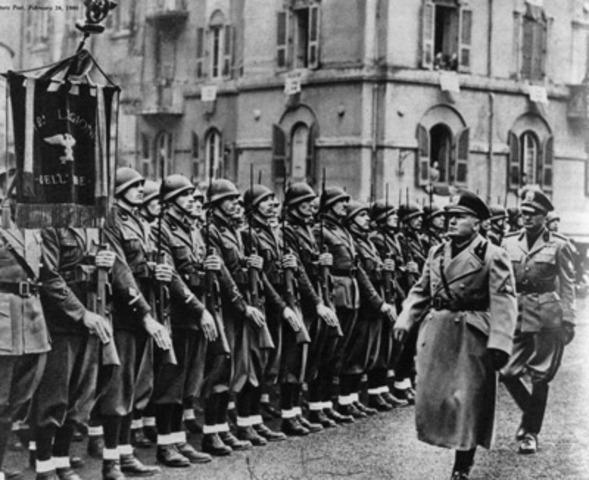 Fascist Party established under Mussolini in Italy