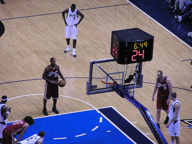 Free throw line moved from 20 feet to 15 feet