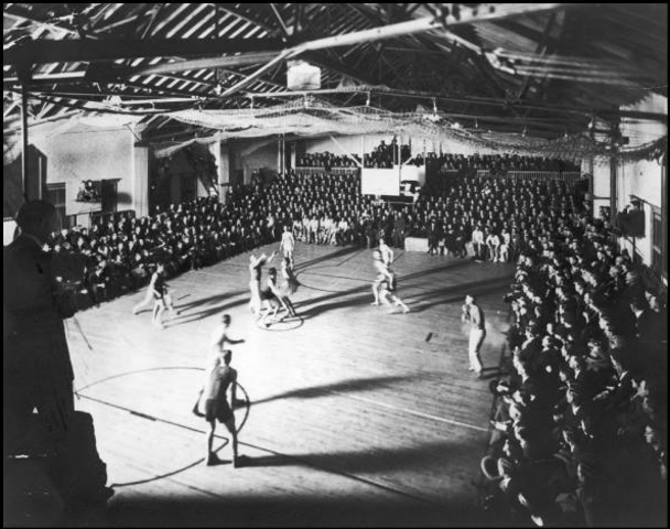 The first televised basketball game