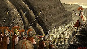 Fin   de la Batalla  de las  Termópilas