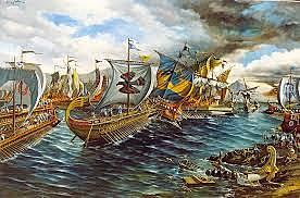 Fin   de la Batalla  de   Salamina