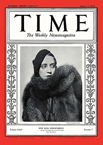 On the cover of *The American magazine Time*